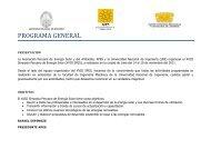 programa xviii spes - Asociación Peruana de Energía Solar y del ...