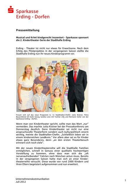 Sparkasse beschert die Kindergärten - und Stadtsparkasse Erding ...