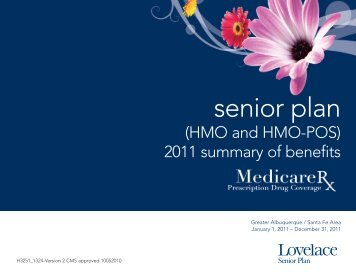 2011 Summary Of Benefits - Lovelace Health Plan
