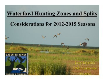 Waterfowl Hunting Zones and Splits