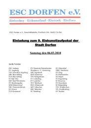 Einladung zum 9. Eiskunstlaufpokal der Stadt Dorfen Samstag den ...