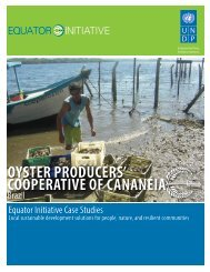 Oyster Producers' Cooperative of Cananéia, Brazil - Equator Initiative