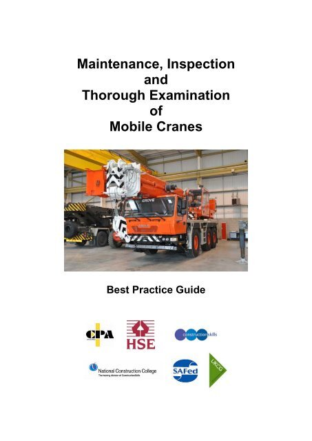 Maintenance, Inspection and Thorough Examination of Mobile