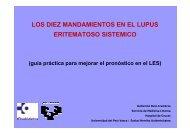 los diez mandamientos en el lupus eritematoso sistemico