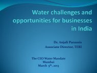 Dr. Anjali Parasnis Associate Director, TERI - CEO Water Mandate