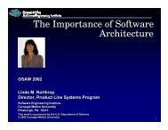 The Importance of Software Architecture The Importance of Software ...