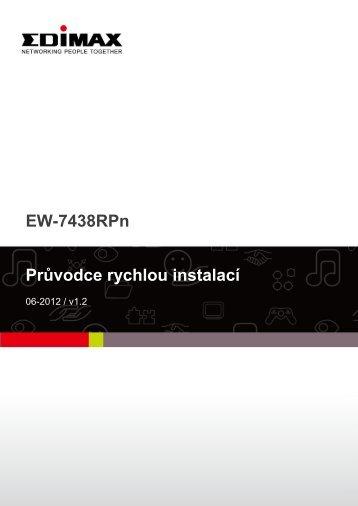 EW-7438RPn Průvodce rychlou instalací - Edimax