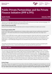 Public Private Partnerships and the Private Finance Initiative (PPP ...
