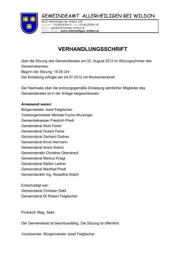 02.08.2012 - Gemeinde Allerheiligen bei Wildon