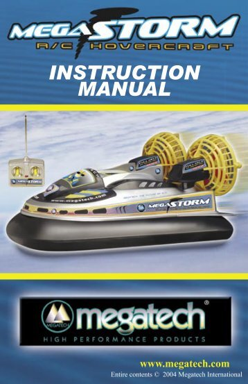 MegaStorm Instruction Manual