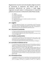 Regolamento recante norme di disciplina degli strumenti di ...