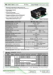 NMC 100 X -Serie /-series 60 Watt - FG-Elektronik GmbH