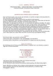 L A X M I   AYURVEDA – INSTITUT Nicky Sitaram ... - Laxmi Foods