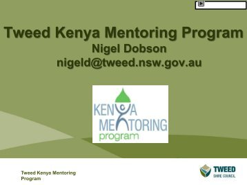 Tweed Kenya Mentoring Program