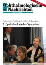 3. Ophthalmologisches Symposium - Sehkraft
