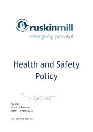 Health and Safety Policy - Ruskin Mill Trust