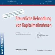 Steuerliche Behandlung von Kapitalmaßnahmen - WM Datenservice