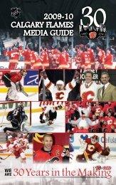 2009-10 CALGARY FLAMES MEdiA GuidE - NHL.com