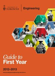 Guide to First Year - Undergrad.engineering.utoronto.ca - University ...