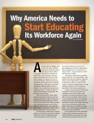Start Educating it's workforce again
