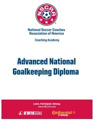 Advanced National Goalkeeping Diploma - National Soccer ...