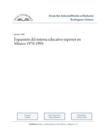 Expansión del sistema educativo superior en México 1970-1995. En ...