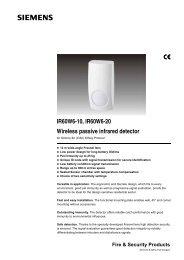 IR60W6-10, IR60W6-20 Wireless passive infrared detector - Simon ...