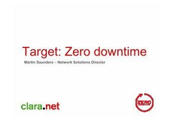 Target: Zero downtime