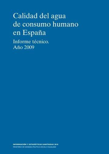 Calidad del agua de consumo humano en España - Ministerio de ...