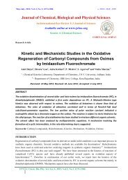 Kinetic and Mechanistic Studies in the Oxidative Regeneration of ...