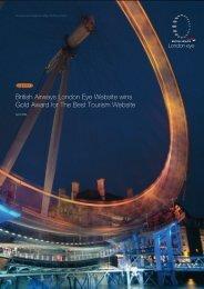 British Airways London Eye Website wins Gold ... - Creativematch