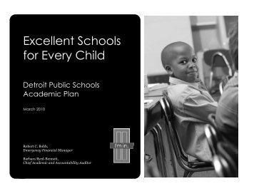 Academic Plan - Detroit Public Schools
