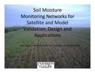 Soil Moisture Monitoring Networks for Satellite and Model ... - SMAP