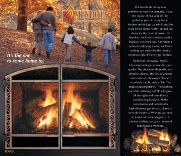 DXV Fireplace Brochure - Classic Pool and Spa