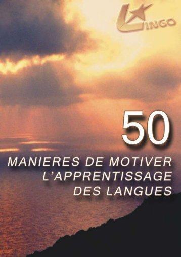 50 manières de motiver l'apprentissage des langues