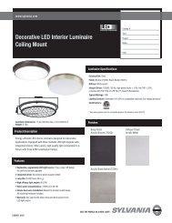 Decorative LED Interior Luminaire Ceiling Mount - Osram Sylvania