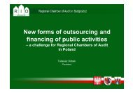New forms of outsourcing and financing of public ... - Eurorai.org
