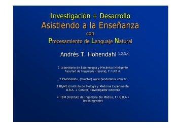 Asistiendo a la Enseñanza Asistiendo a la Enseñanza - Facultad de ...