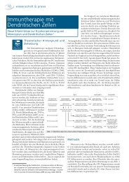 Immuntherapie mit Dendritischen Zellen - biomed-austria