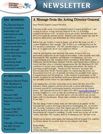 DEC Newsletter - March 2012 - San Diego Center for International ...