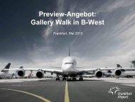 Gallery Walk im Flugsteig B-West - Media Frankfurt