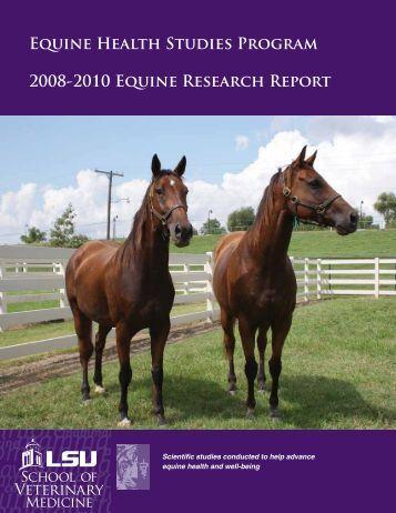 2011 EHSP Research Report - School of Veterinary Medicine ...