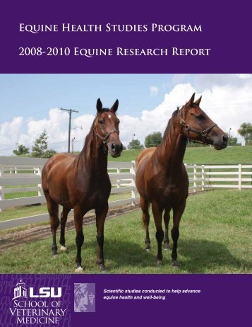 2011 EHSP Research Report - School of Veterinary Medicine ...