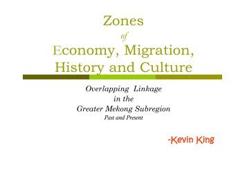 Zones Economy, Migration, History and Culture - RCSD