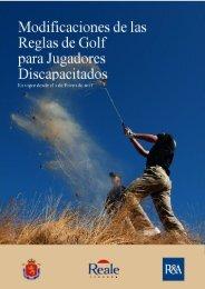 Modificaciones de las Reglas de Golf para Jugadores Discapacitados