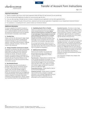 Schwab Stock Transfer Form 28 Images Etrade Vs Scottrade Vs