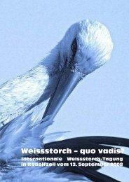 Weissstorch – quo vadis? - Storch-Schweiz