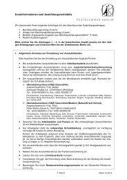 Kurzinformationen zum Ausbildungsverhältnis - Ärztekammer Berlin