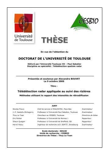 THÈS EE - CESBIO - Université Toulouse III - Paul Sabatier