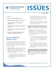 eMail Blast for print January:Issues - Intermountain.net